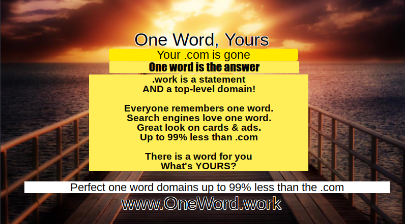 One-Word Domains - Buy Doman Names At Discount